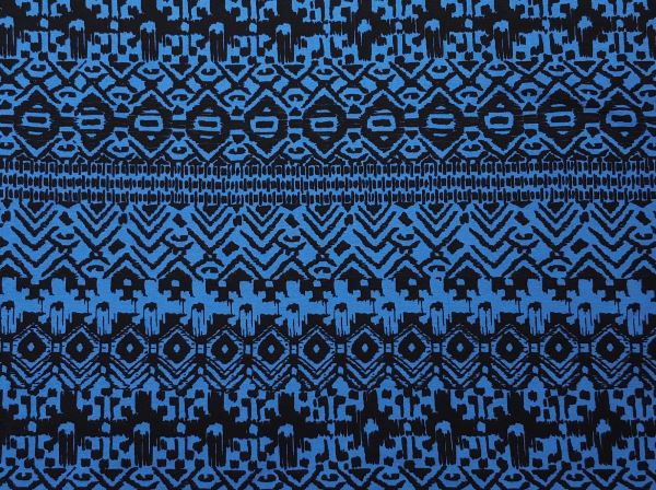 560e1671d0c cotton spandex black and blue tribal fabric
